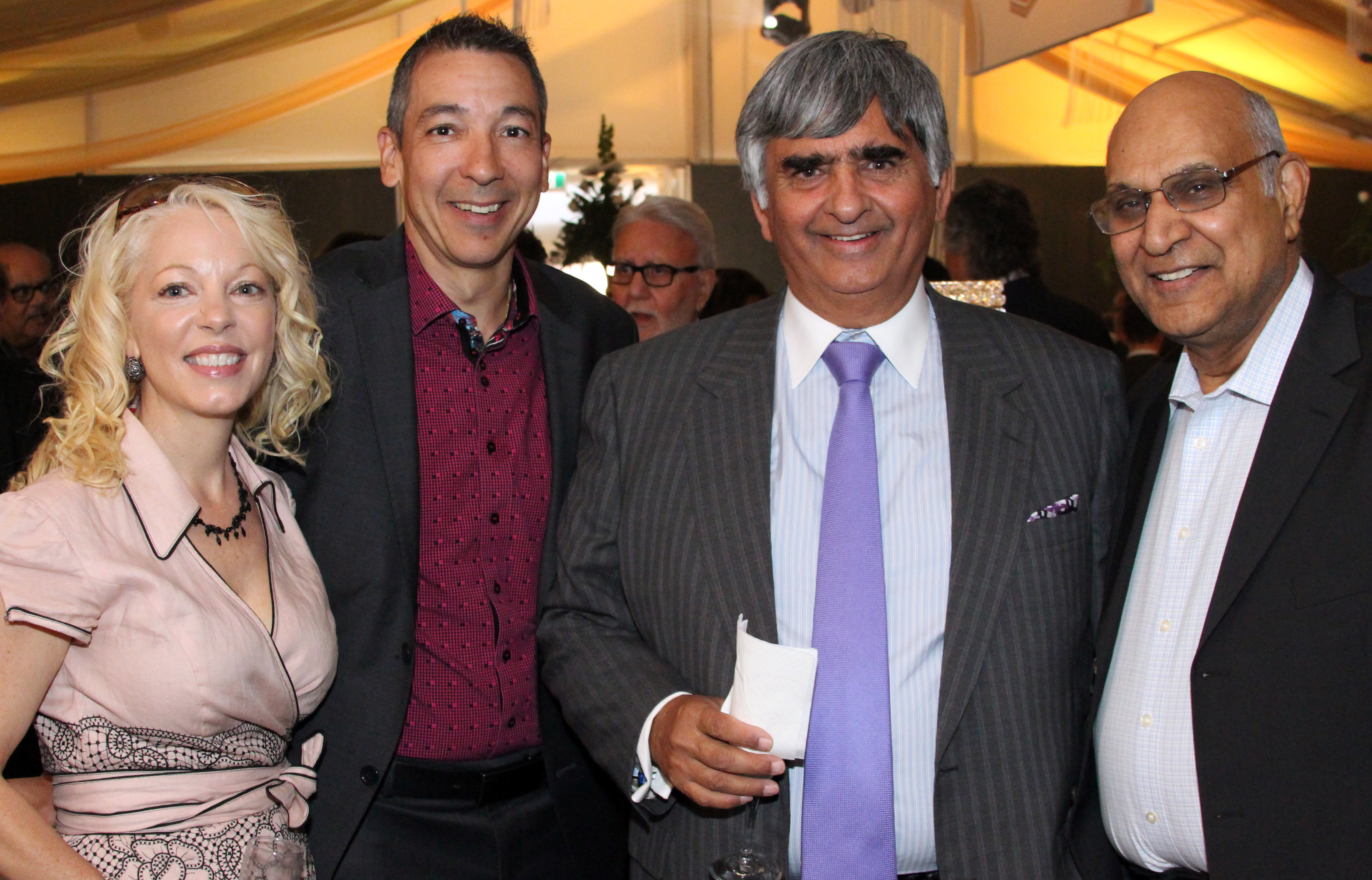Peggy Taillon with lawyer Daniel Fernandes Bill Malhotra (Claridge Homes) and Anand Aggarwal  sc 1 st  Ottawa Business Journal & Ottawa Gold Plate Dinner honours Argos Carpets founder Peter ...