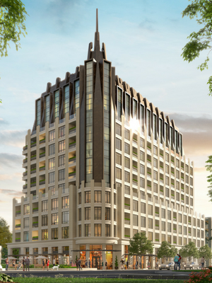 A rendering of the exterior of 1451 Wellington