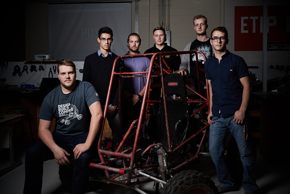 Baja SAE team members