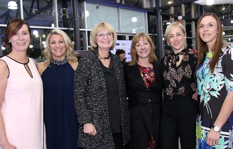 Among this year's 12 finalists for a Businesswoman of the Year Award are, from left, Cathy Hay, Anna Belanger, Kelly Stone, Linda Eagen, Carley Schelck and Donna Baker. Photo by Caroline Phillips