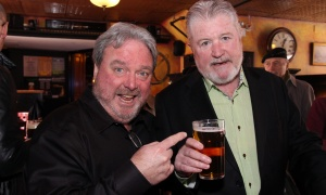 From left, Bobby Kerr, head of the Irish Canadian Saint Patrick's Week Luncheon, is seen with Irish-Canadian businessman Larry Bradley, co-owner of Bradley Kelly Construction and the Heart & Crown Irish Pubs, which were sponsors of the benefit luncheon held at the Heart & Crown on Friday, March 10, 2017. (Caroline Phillips / Ottawa Business Journal)