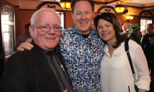 From left, Patrick Whelan, from Osgoode Properties, with Terry Thompson from Tomlinson Environmental Services and Kimberley McMahon at the Irish Canadian Saint Patrick's Week Luncheon held at the Heart & Crown Irish Pub in the ByWard Market on Friday, March 10, 2017, in support of such charities as the Bruyère Foundation. (Caroline Phillips / Ottawa Business Journal)