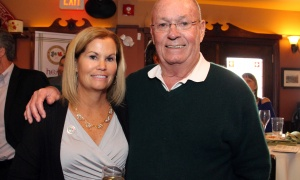 Whit Tucker and his daughter Diane Tucker, with RBC Dominion Securities Tucker Wealth Management, at the Irish Canadian Saint Patrick's Week Luncheon held at the Heart & Crown Irish Pub in the ByWard Market on Friday, March 10, 2017,  in support of such charities as the Bruyère Foundation. (Caroline Phillips / Ottawa Business Journal)