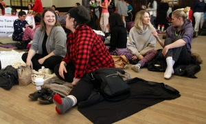 Ottawa entrepreneurs, from left, Angella Goran, Victoria Lennox and Janice McDonald at a Women in Business Conference Pre-Event Pajama Party held at allsaints on Sunday, March 5, 2017. (Photo by Caroline Phillips)