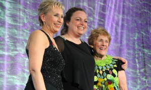 From left, Nancy Stanton, acting president and CEO of The Royal Ottawa Foundation for Mental Health, with award presenter Rachel Scott-Mignon and Sharon Johnston, recipient of the 2017 Honourary Inspiration Award and wife of Gov. Gen. David Johnston, at the 14th annual Inspiration Awards held at the Delta Ottawa City Centre on Friday, March 3, 2017. (Photo by Caroline Phillips)