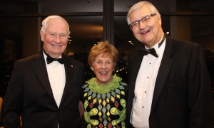 From left, Governor General David Johnston with his wife, 2017 Honourary Inspiration Award recipient Sharon Johnston, and George Weber, president and CEO of The Royal Ottawa Health Care Group, at the 14th annual Inspiration Awards Gala held at the Delta Ottawa City Centre on Friday, March 3, 2017. (Photo by Caroline Phillips)