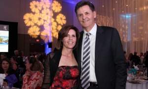 Jan Kaminski, board chair of the St. Patrick's Home of Ottawa Foundation and president of presenting sponsor Colonnade Investments, with his wife Kerry at A Night at the Tropicana soirée held at the Ottawa Conference and Event Centre on Thursday, March 9, 2017.