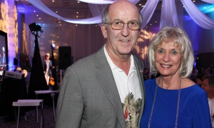 Pat Kelly, co-owner of the Heart & Crown Irish Pubs, and his wife, Laurie, at the St. Patrick's Home of Ottawa Foundation's A Night at the Tropicana soirée held at the Ottawa Conference and Event Centre on Thursday, March 9, 2017.