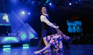 Dr. Philippe Phan, a spine surgeon, and his professional dance partner Natalia Rueda competed in the Dancing with the Docs benefit gala for The Ottawa Hospital, held at the Hilton Lac-Leamy on Saturday, April 8, 2017. (Photo by Caroline Phillips)