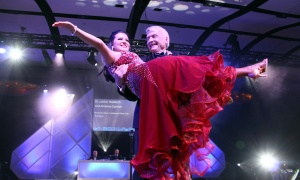 Dr. Lothar Huebsch, a hematologist, and his professional dancing partner, Arianna Carrion, competed in the Dancing with the Docs benefit gala held at the Hilton Lac-Leamy on Saturday, April 8, 2017. (Photo by Caroline Phillips)