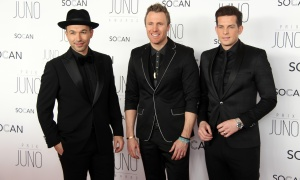 The Canadian vocal group The Tenors on the red carpet at the JunoGala Dinner and Awards held at the Shaw Centre on Saturday, April 1, 2017. (Photo by Caroline Phillips)