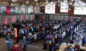 Roughly 1,600 people attended the first-ever, sold-out Sugar Lumberfest, an urban sugar shack event held at the Horticulture Building as part of Ottawa's 2017 Ignite 150 event series to celebrate Canada's 150th birthday. (Photo by Caroline Phillips)