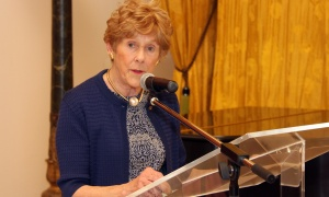 Her Excellency Sharon Johnston makes some briefs remarks at the Because Mothers Matter Awards held at the Embassy of France on Tuesday, May 16, 2017. (Photo by Caroline Phillips)