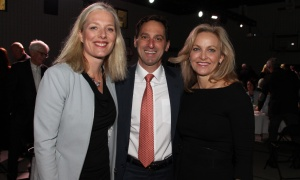 From left, Environment Minister and Ottawa MP Catherine McKenna with Dan Goldberg, CEO of Telesat, and his wife, community volunteer Whitney Fox, at the Boys and Girls Club of Ottawa Breakfast held at the Ron Kolbus Clubhouse on Thursday, May 4, 2017. (Photo by Caroline Phillips)