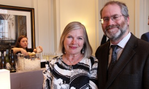 Criminal defence lawyer Doug Baum and his wife, Ülle Baum, at the grand opening party for the 1451 Wellington boutique luxury condo residence, held Thursday, May 11, 2017. (Photo by Caroline Phillips)