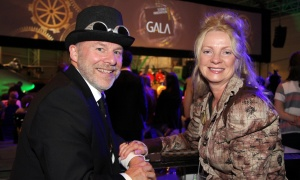 Claude Brulé, senior vice president of academic at Algonquin College and his wife, Carole, at the steampunk-themed Canada Aviation and Space Museum on Wednesday, May 17, 2017. (Photo by Caroline Phillips)