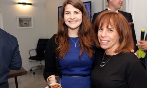 From left, Danya Vered with family friend Debi Zaret at the launch of Gemstone Corporation's new office, design centre and showroom at 252 Argyle Avenue, held on Thursday, June 1, 2017. (Photo by Caroline Phillips)