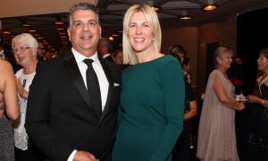 Gary Zed, committee chair of the NAC Gala, with Liza Mrak, co-owner of sponsor Mark Motors, at the National Arts Centre Gala held at the NAC on Saturday, September 16, 2017. Photo by Caroline Phillips