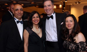 From left, Chris Sarellas and his wife, Tina Sarellas, regional president of sponsor RBC, along with Andrew Waitman,  CEO of Assent Compliance, and Heidi Hauver at the NAC Gala held at the National Arts Centre on Saturday, September 16, 2017. Photo by Caroline Phillips