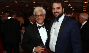 Jacques Shore, partner at Gowling WLG, with Steve de Eyre, head of public policy at sponsor Amazon.ca, at the National Arts Centre Gala held at the NAC on Saturday, September 16, 2017. Photo by Caroline Phillips