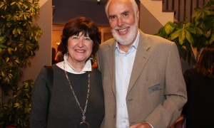 Cynthia Little, senior officer of philanthropy with the Royal Ottawa Foundation for Mental Health, and Neil Leslie, vice president with the Shepherds of Good Hope Foundation, at a private reception hosted Wednesday, October 25, 2017, by The Foundation WCPD, title sponsor of the upcoming Ottawa Philanthropy Awards. Photo by Caroline Phillips