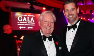 From left, Greg Kane, co-chair of The Ottawa Hospital Gala, with fellow committee member Hugues Boisvert, founder and CEO of HazloLaw, at The Westin Ottawa on Saturday, October 28, 2017. Photo by Caroline Phillips