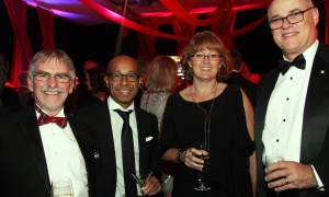 From left, Dr. Duncan Stewart, executive vice president of research at The Ottawa Hospital, with senior scientist Dr. Bernard Thébaud, Wendy Peterson and Dr. Michael Rudnicki, also a senior scientist and director of the regenerative medicine program, at The Ottawa Hospital Gala held at The Westin on Saturday, October 28, 2017. Photo by Caroline Phillips