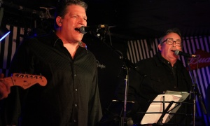 From left, Gowling WLG partners Daniel Boivin and David Law, from the band Chairman and the Bored, perform at the Rockable Hours charity concert for the Ottawa Food Bank, held at Babylon Nightclub on Friday, September 29, 2017. Photo by Caroline Phillips