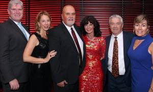 "From left, McMillan lawyer Patrick Murray with his wife, Rebecca, and Ron Petersen, a senior litigator at the law firm, with his wife, Teresa Bermingham, and Michel Struthers, managing director and regional team lead at BMO, with his wife, Margaret Struthers, at Habitat for Humanity Greater Ottawa's Steel Toes and Stilettos ""Full Moon"" Gala, held at the Shaw Centre on Saturday, November 4, 2017. Photo by Caroline Phillips"