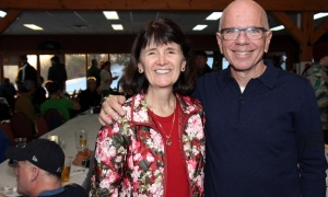 Ronald McDonald House board members Cindy McCarthy and Perry McKenna at the 26th annual SkiFest held in support of the non-profit organization, at Mont Ste. Marie ski resort on Thursday, January 25, 2018. Photo by Caroline Phillips