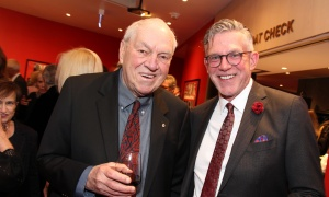 From left, former NDP leader Ed Broadbent with David McGown, senior vice president of strategy initiatives with the Insurance Bureau of Canada at the National Arts Centre on Thursday, March 1, 2018.