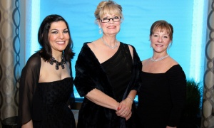 From left, Busineswoman of the Year finalists Tina Sarellas, Kelly Stone and Linda Eagen in the organization category, at The BYAs, held Thursday, April 19, 2018, at the Infinity Convention Centre. Photo by Caroline Phillips