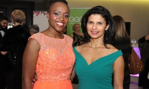 From left, honourary chair Solange Tuyishime with Anjali Dilawri, a partner with sponsor Logan Katz LLP, at the Businesswoman of the Year Awards Gala. Photo by Caroline Phillips