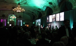 A  sold-out crowd of 500 gathered in the ballroom of the Fairmont Chateau Laurier for this year's Politics and the Pen literary dinner in support of The Writers' Trust of Canada. Photo by Caroline Phillips