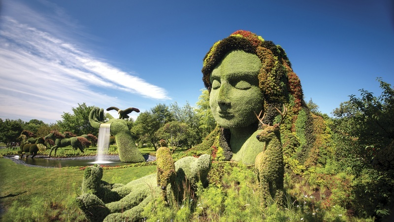 One of the hedge sculptures created for MosaiCanada 150.