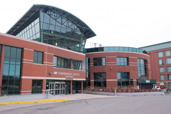 Exterior of the Ottawa Conference and Event Centre located at 200 Coventry Road in Ottawa.