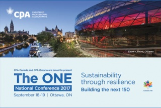 The ONE national conference 2017, September 18-19 Ottawa, ON Sustainability through resilience Building the next 150